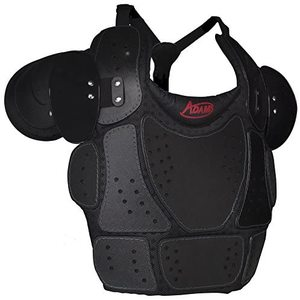 Adams USA Baseball/Softball Umpire Low Profile Chest Protector, Black, One Size