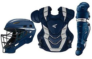 Easton PRO X Baseball Catchers Equipment Box Set, 2021, Helmet, Chest Protector - Commotio Cordis Foam, Leg Guards, NOCSAE Approved For All Levels Of Play