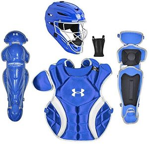 Under Armour PTH Victory Series Catching Kit, Meets NOCSAE, Ages 12-16, Royal Blue